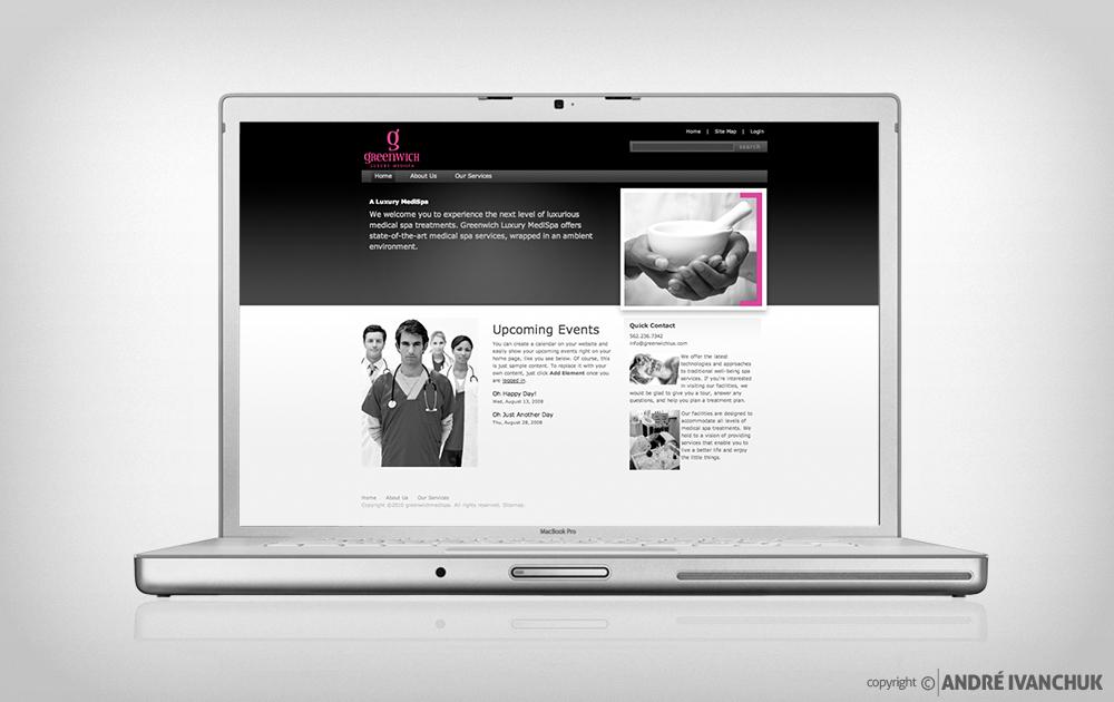 greenwich luxury spa branding website
