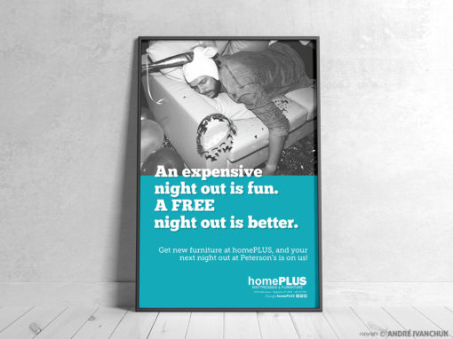 Home Plus Mattress and Furniture Binghamton New York Advertising Design
