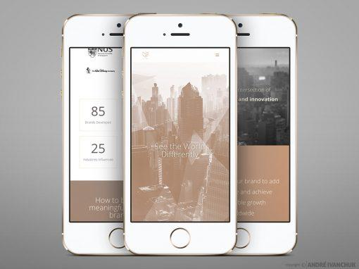 m global advisory website design