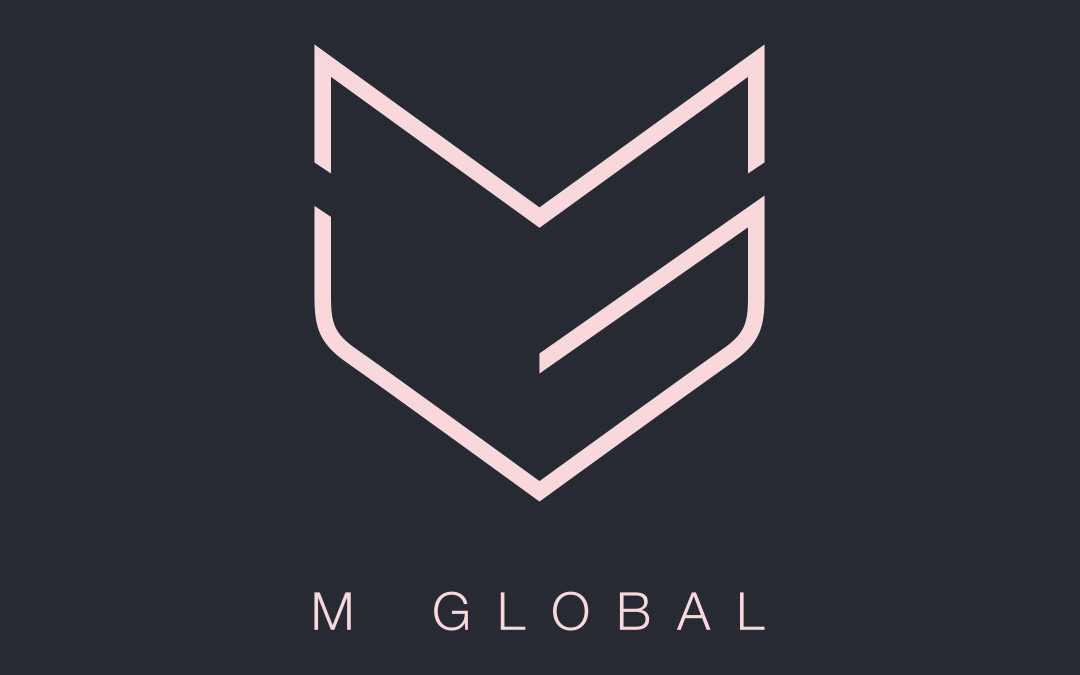 m global Logo Design