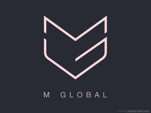 m global Logo Design