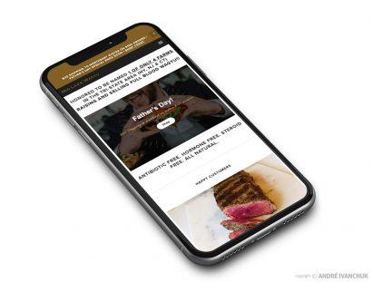 Mid Lake Wagyu Website Responsive Mobile Mockup