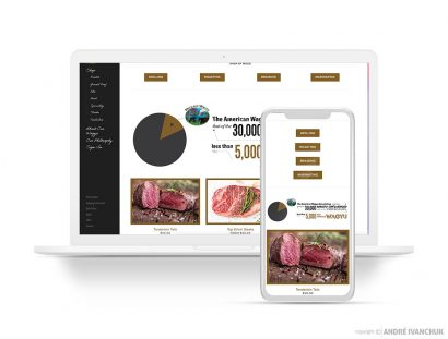 Mid Lake Wagyu Website Responsive eCommerce