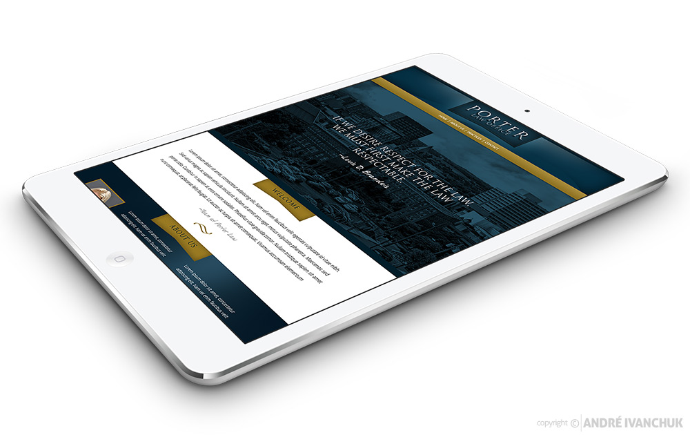 Porter Law Website Design