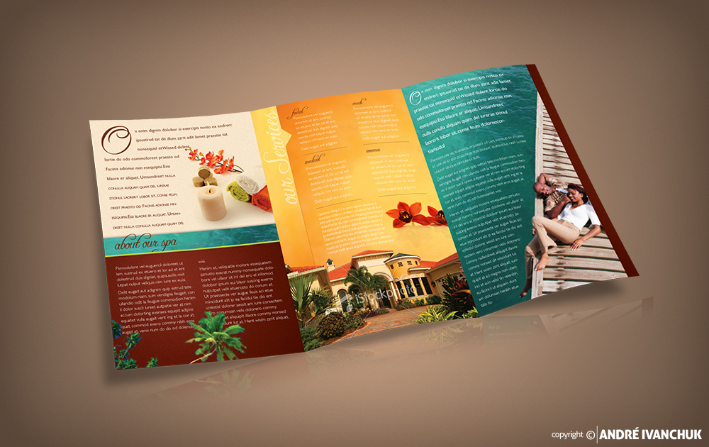 rosa day spa marketing brochure 2