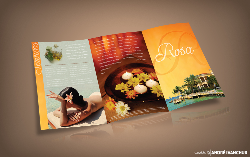 rosa day spa marketing brochure