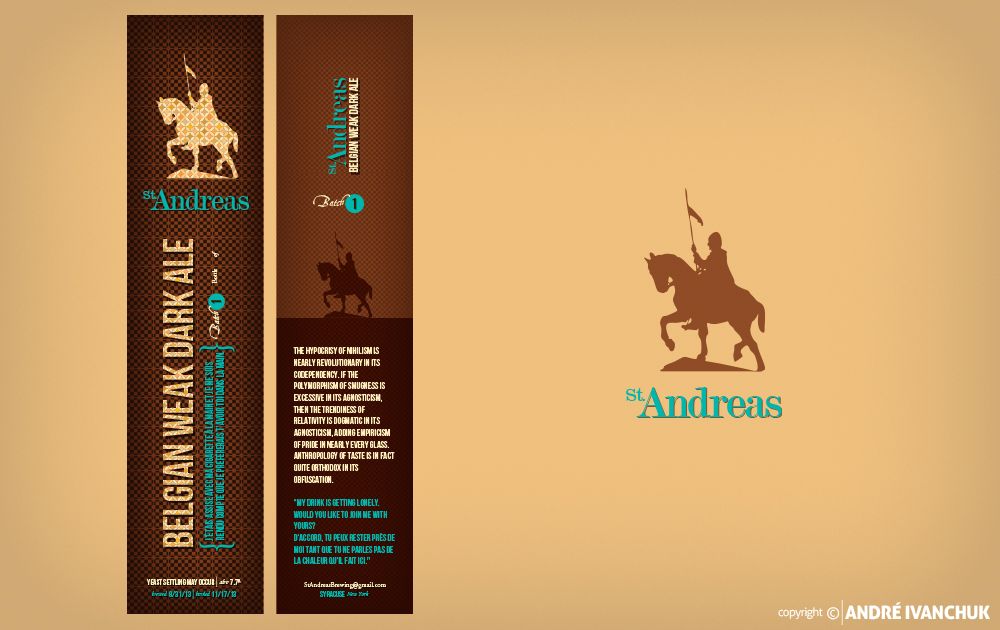 st andreas beer branding labels vertical
