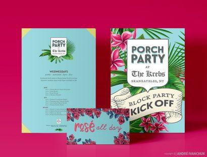 The Krebs Skaneateles NY Porch Party Marketing and Design Social Media Graphics Logo Design Marketing Flyers