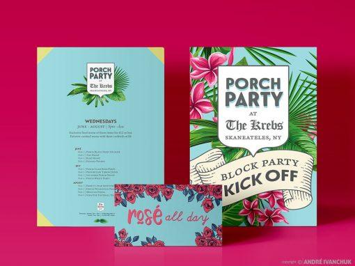 The Krebs Skaneateles NY Porch Party Marketing Design Creative Graphics
