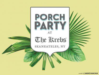 The Krebs Skaneateles NY Porch Party Marketing and Design Social Media Graphics Logo Design