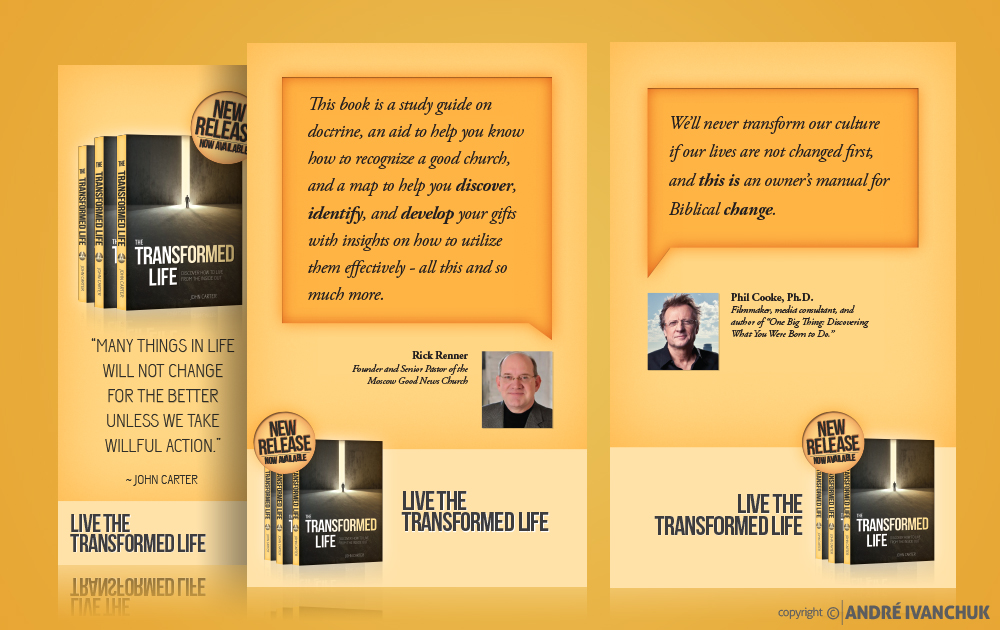 the transformed life john carter book promo phil cooke rick renner