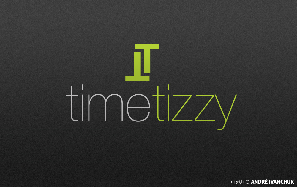 timetizzy logo and app icon design